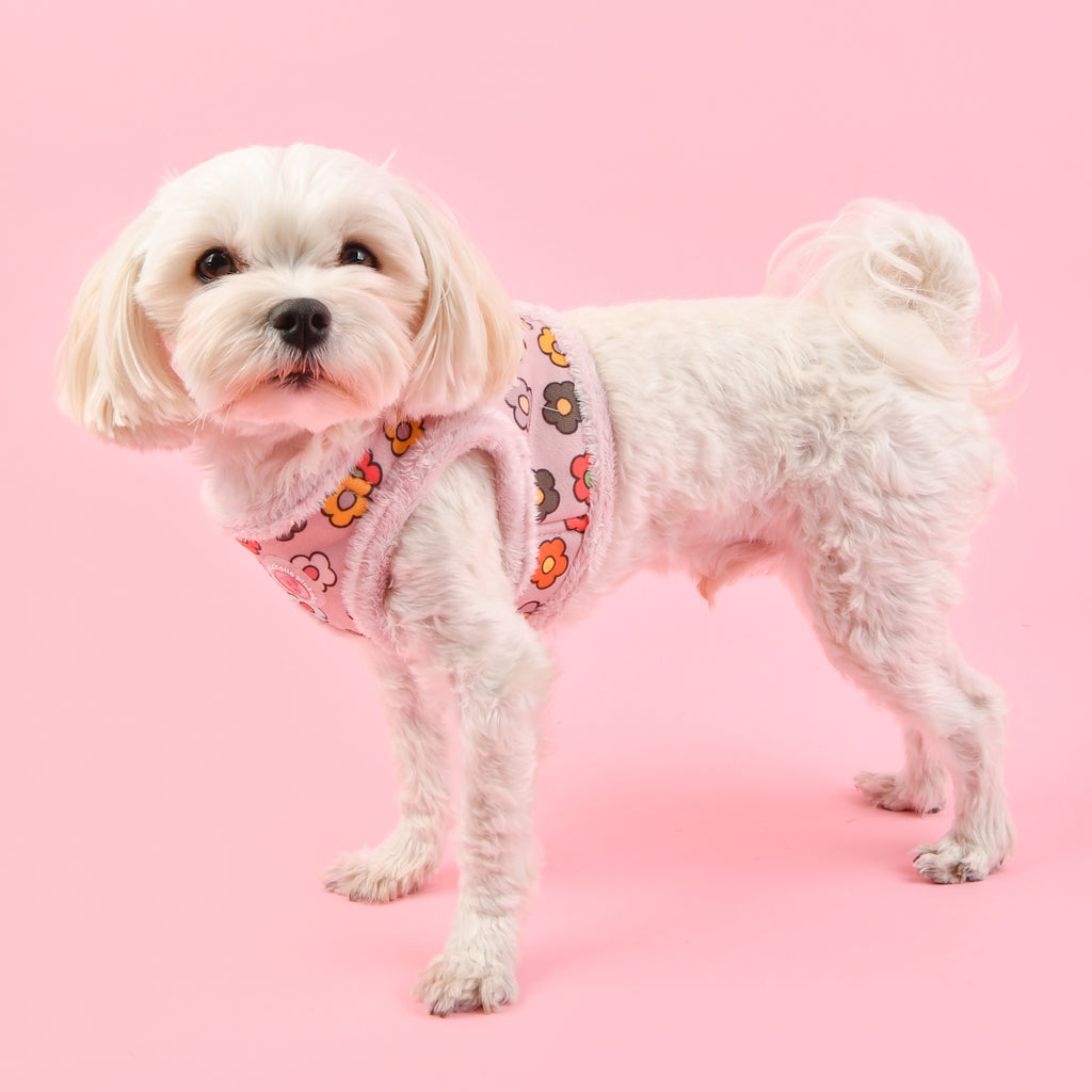 flower power harness - pink