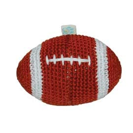 crochet football squeaky toy