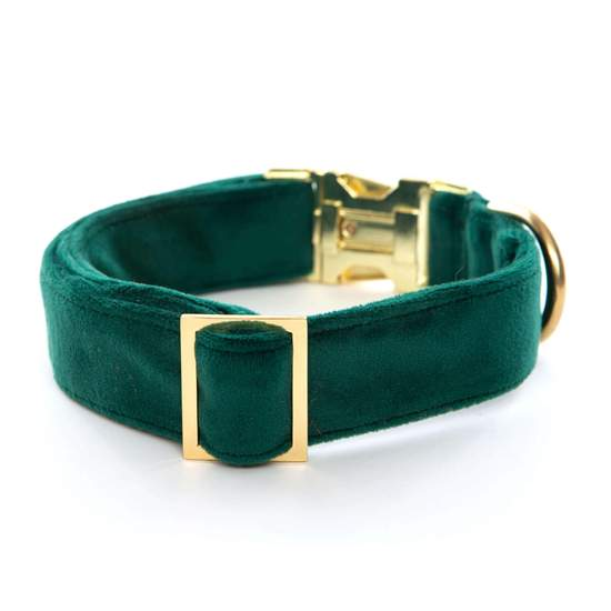 forest green velvet collar