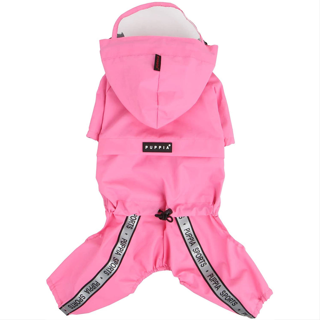 pink race track rainsuit
