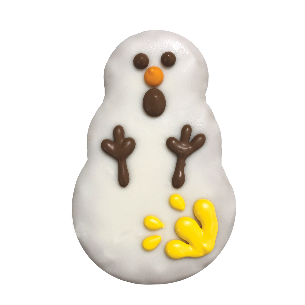 Frosty the snowman cookie