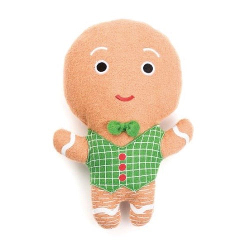 gingerbread man woolie squeak toy