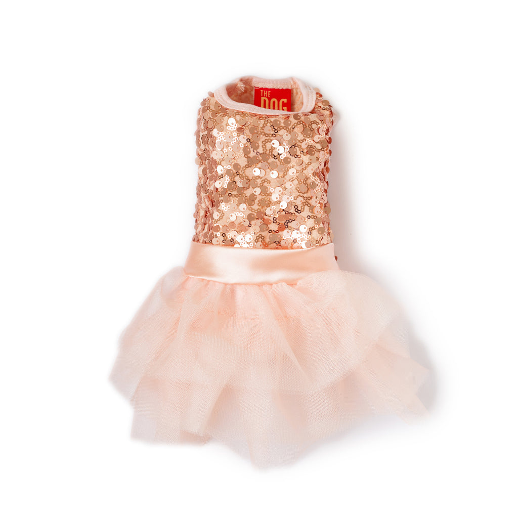 rose gold sequin tutu dress