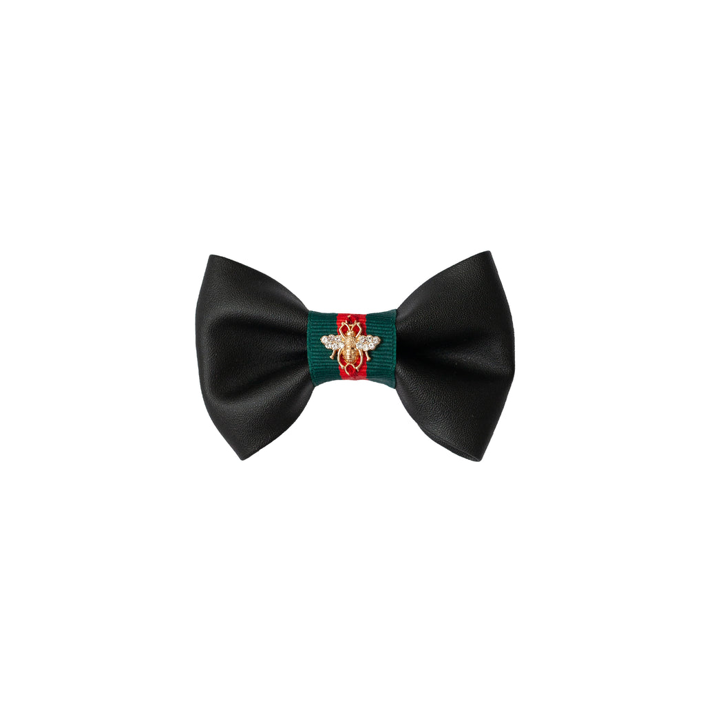grrrucci bow-tie - black smooth