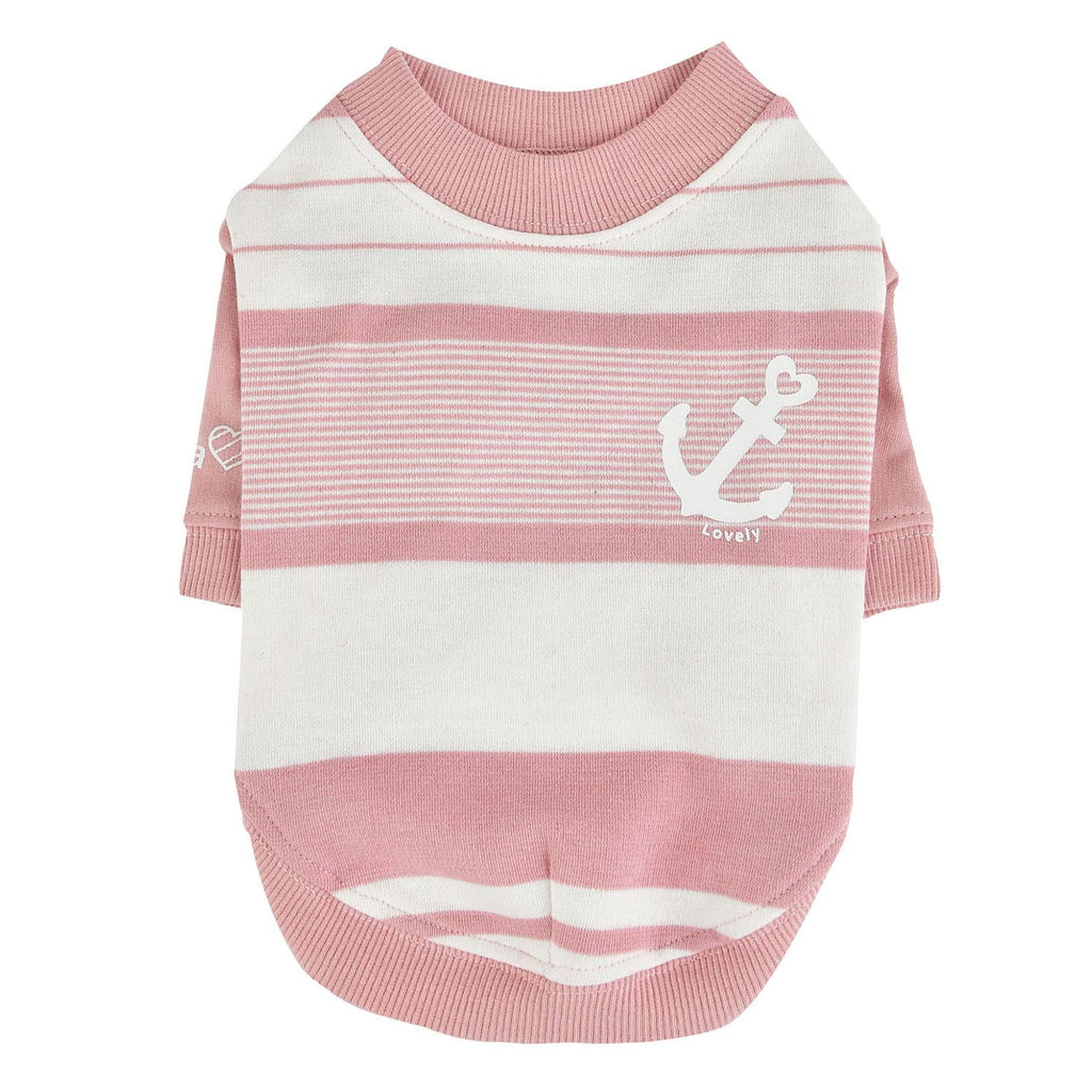 striped anchor tee - pink