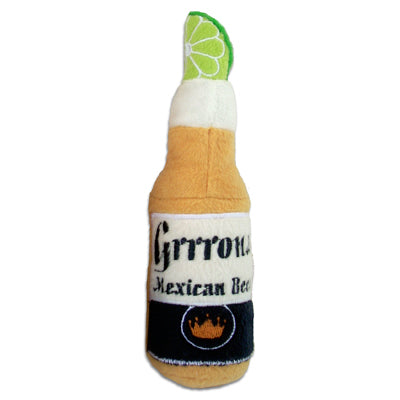 grrona beer dog toy