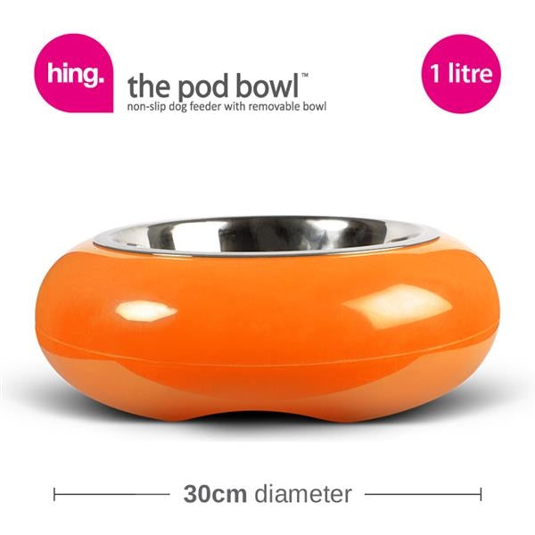 hing pod bowl - orange