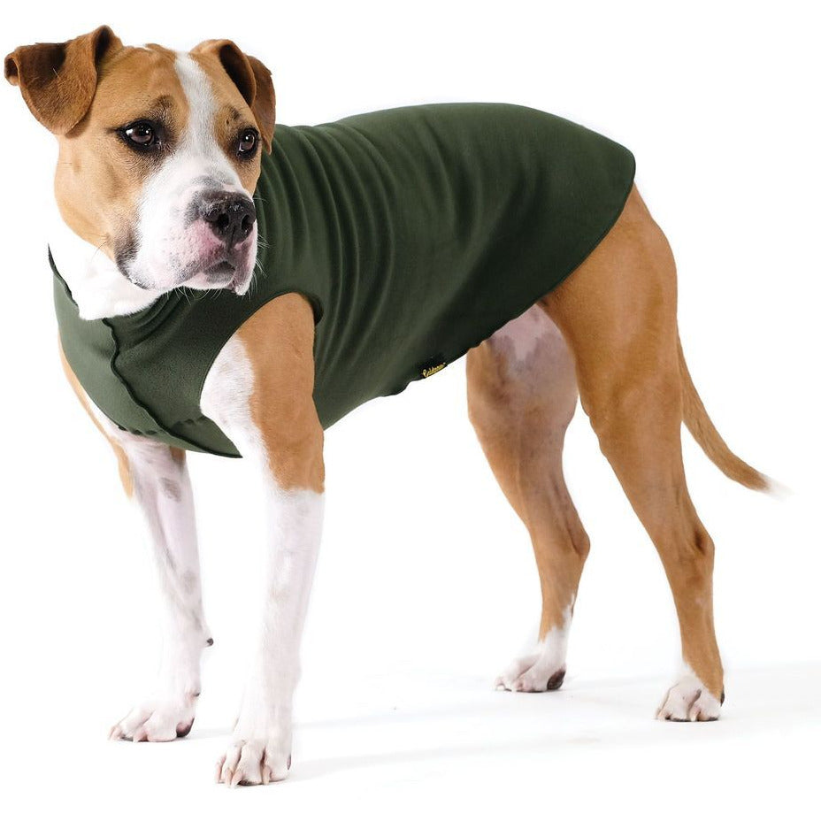 hunter green stretch fleece