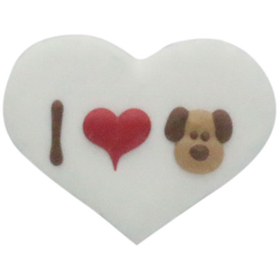 I heart dog cookie