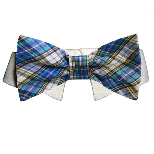 isaac plaid bow tie