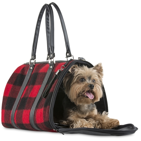 jl duffel - red buffalo wool plaid