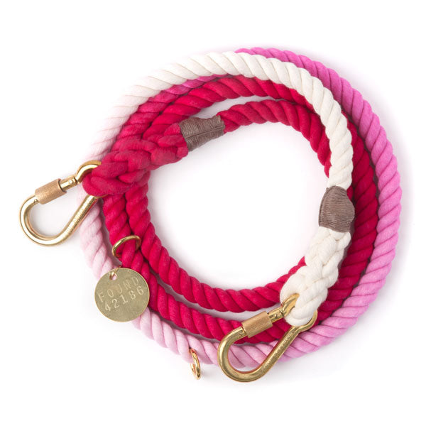 magenta ombre adjustable rope leash