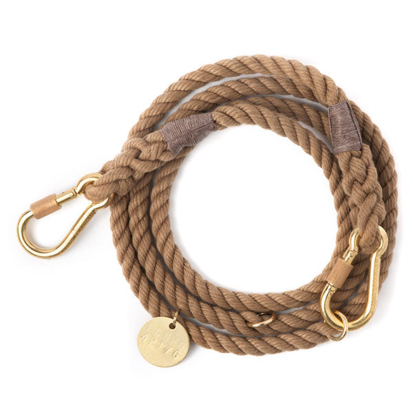natural adjustable rope leash