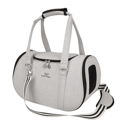 light grey pet travel carrier