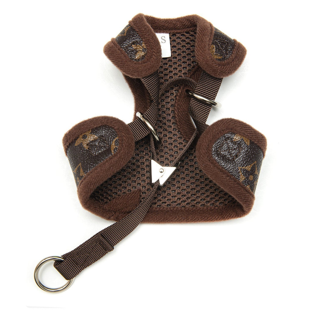 love me harness and leash set - chocolate brown