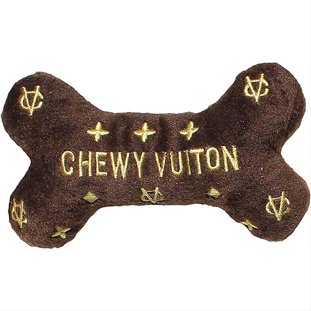 chewy vuitton bone - chocolate