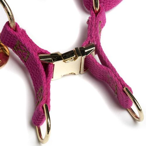 magenta cotton harness