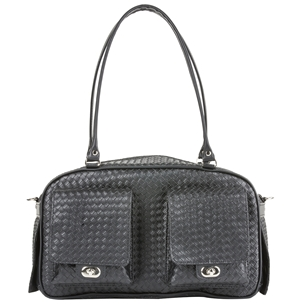 black woven marlee carrier