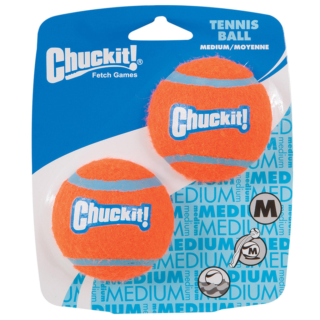 chuckit! floating tennis balls - medium 2 pack