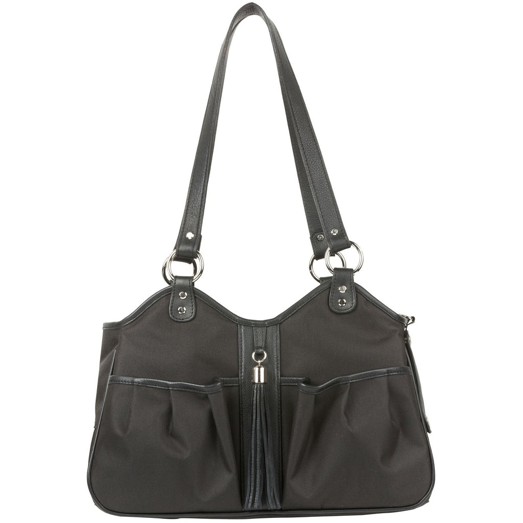 metro carrier - black sable leather trim