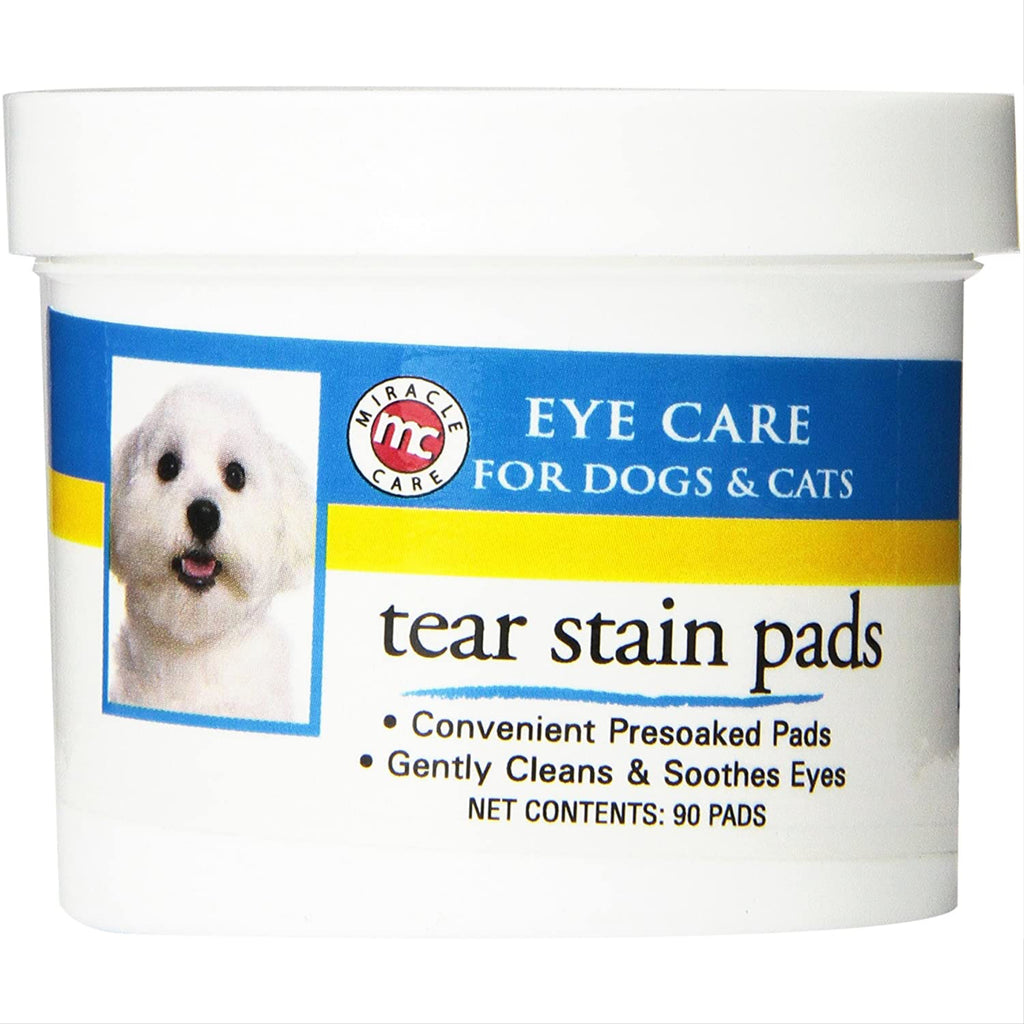 miracle care tear stain pads - 90 pads
