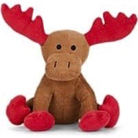 corduroy moose squeak toy