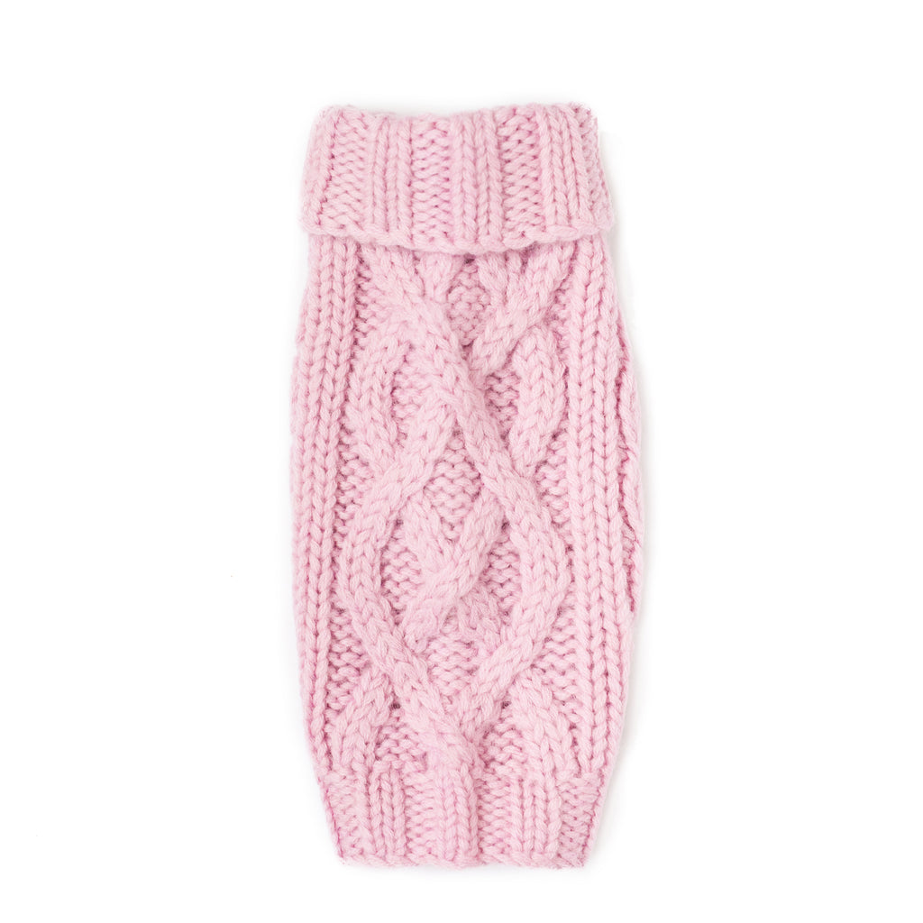 nantucket hand knit sweater - pink