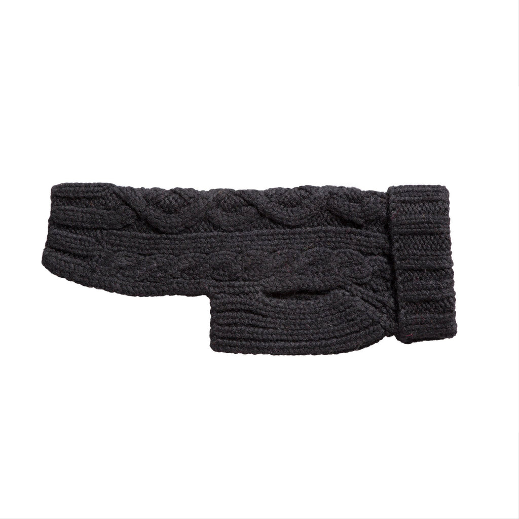 nantucket hand knit sweater - black