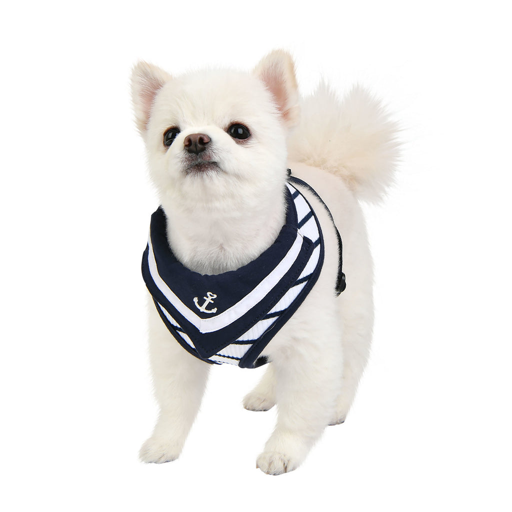 cordelia sailor harness - navy with white stripes