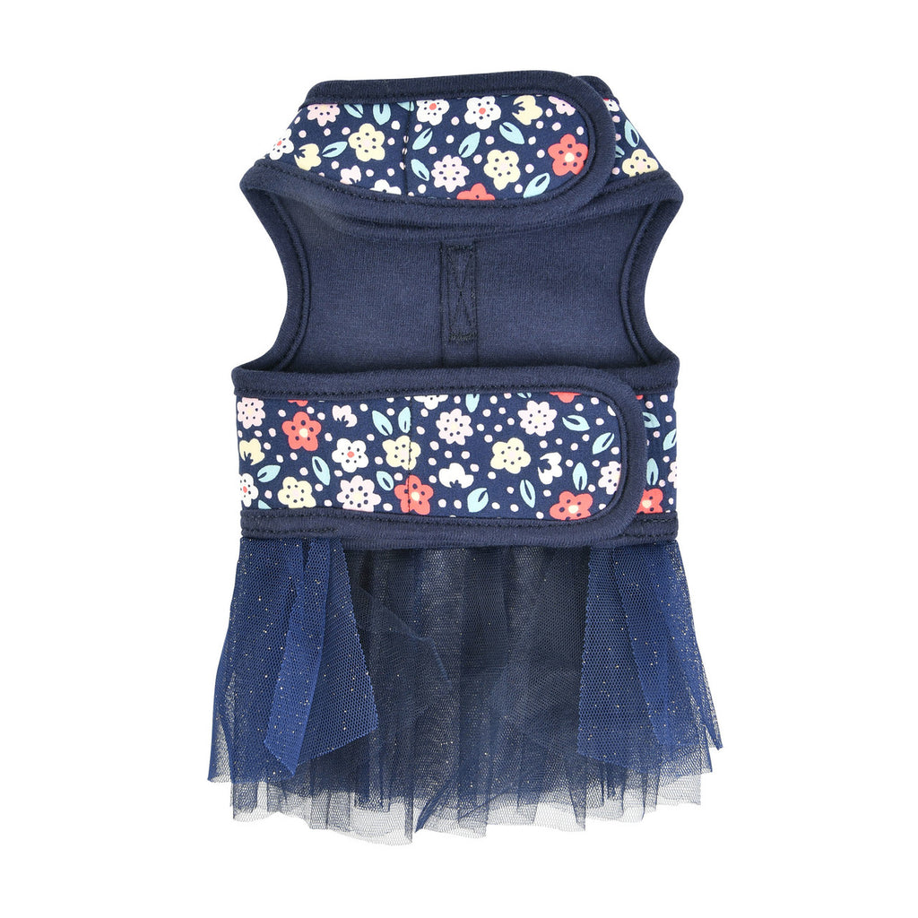 floral harness dress - navy