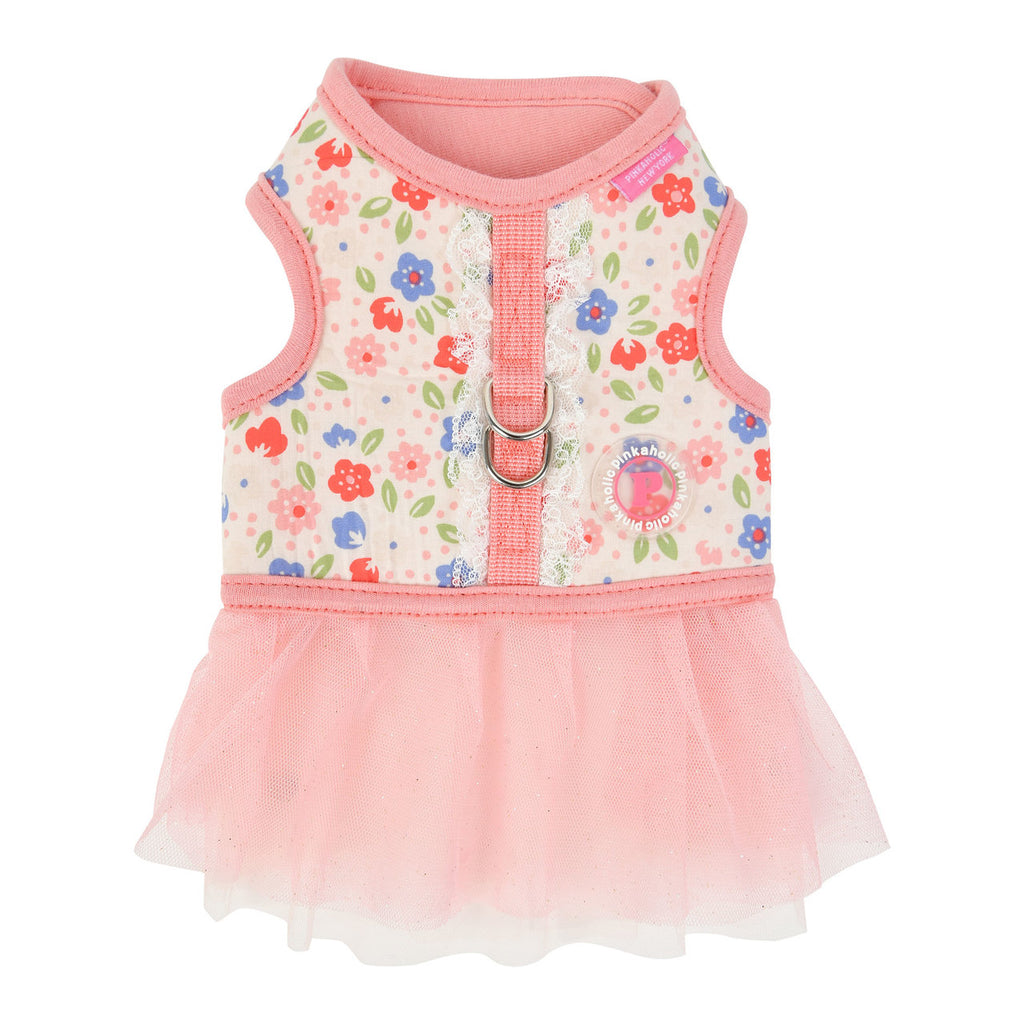 floral harness dress - pink - available in large!