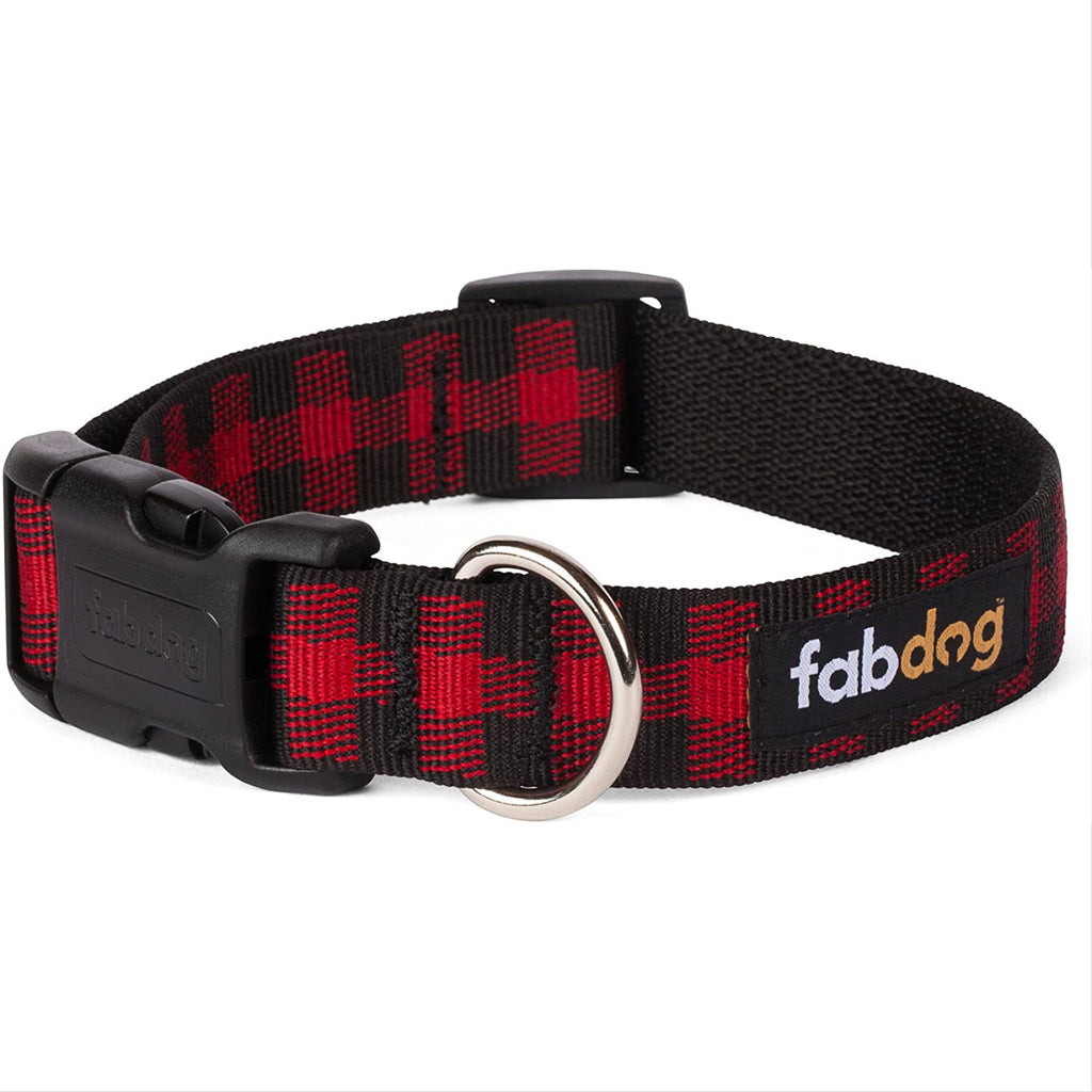 red buffalo check collar