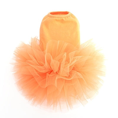 orange tutu dress - 1 small left!
