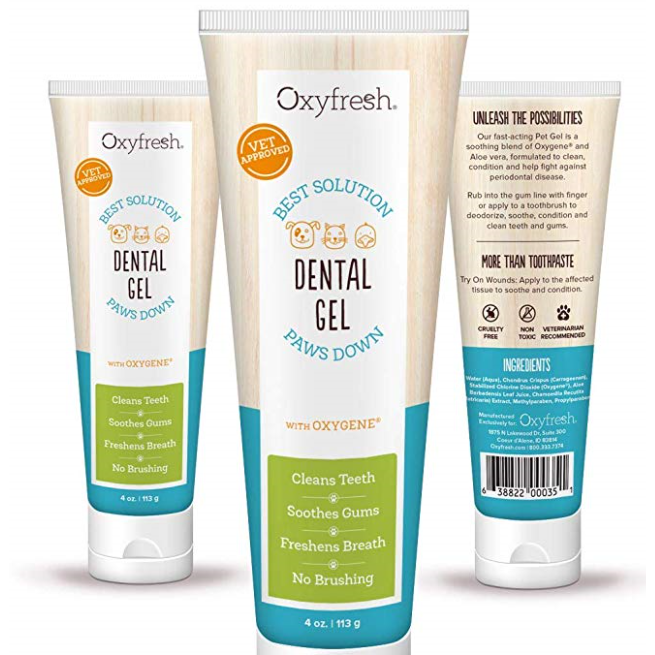 oxyfresh pet gel toothpaste - 4 oz