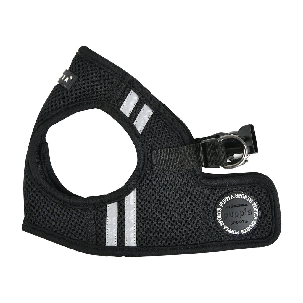 soft vest harness with reflective strips - black