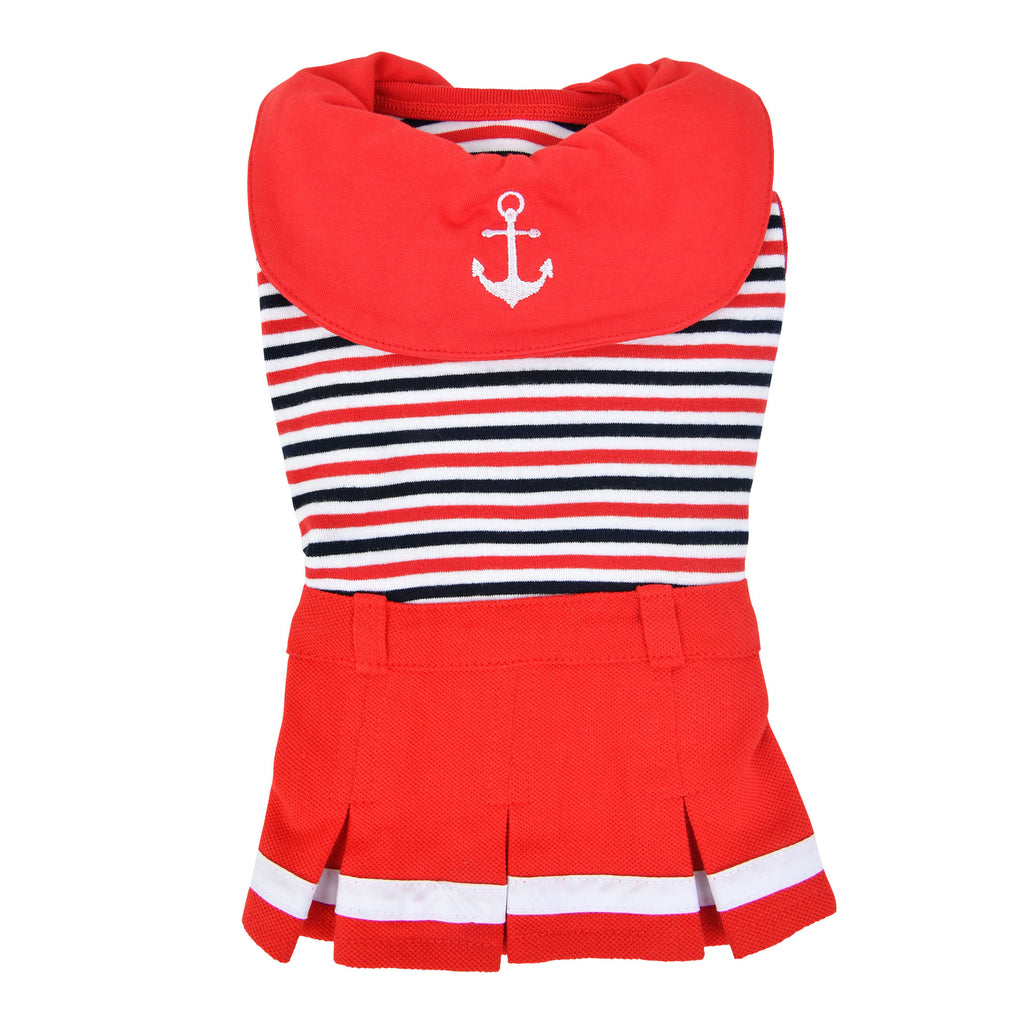nautical dress - red