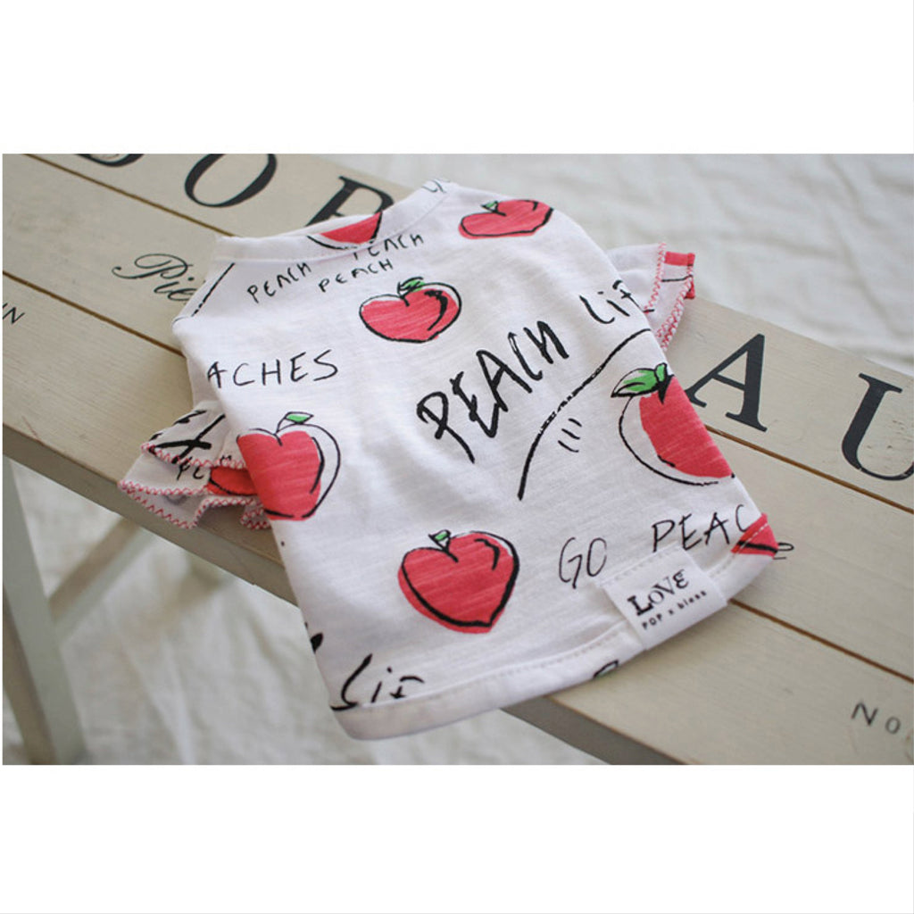 love peach tee - red - 1 xsmall left!