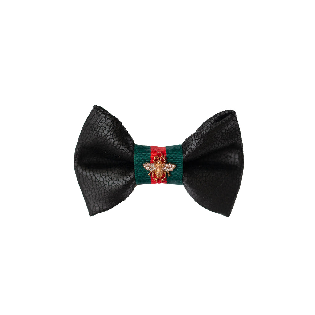 grrrucci bow-tie - black pebbled