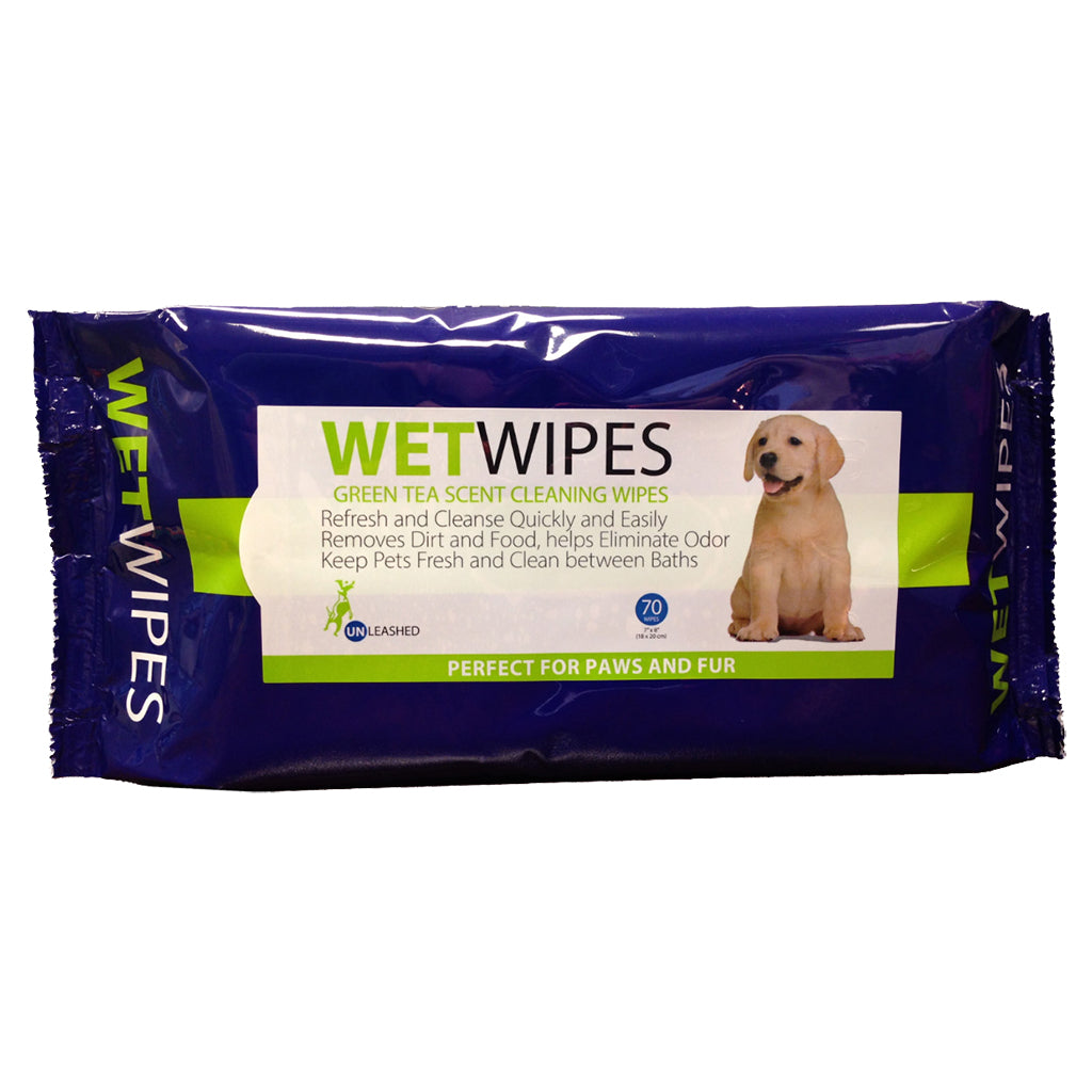 unleashed pet wipes - 70 wipes