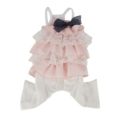 petit frill sleeveless overall - baby pink