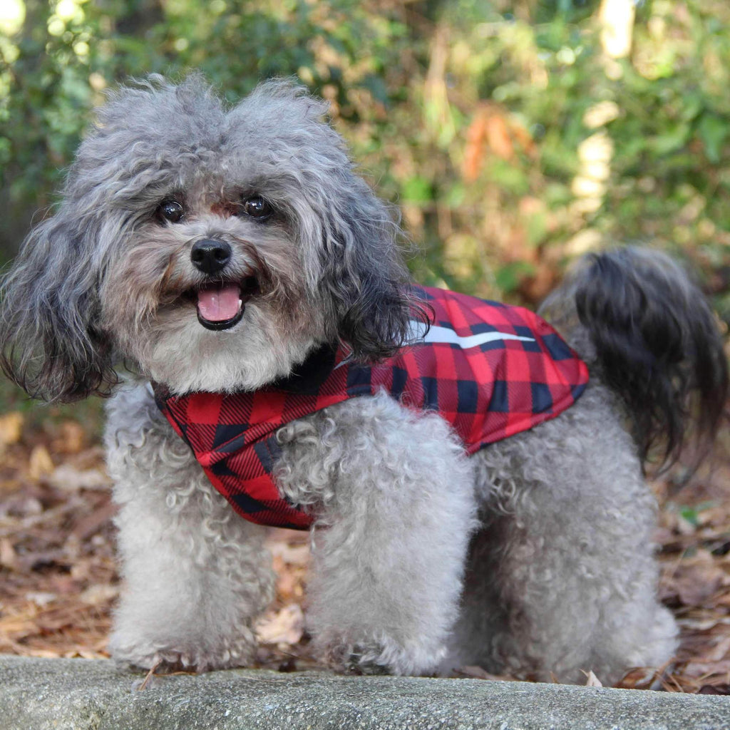 buffalo plaid rain coat