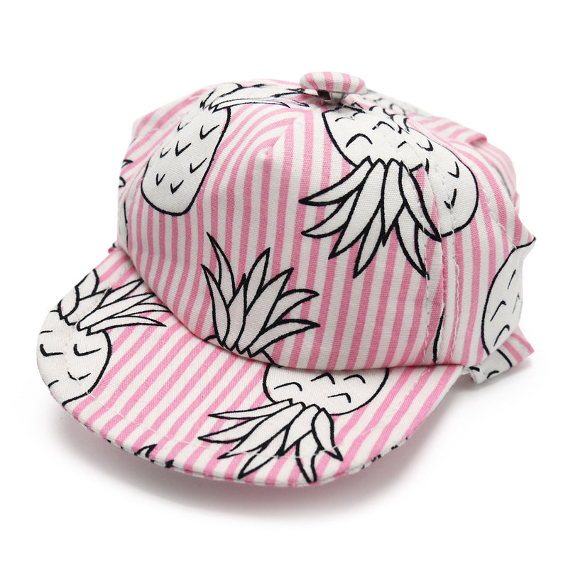 pineapple visor hat - pink