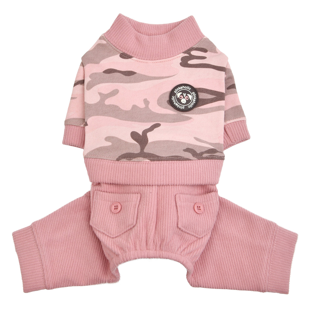 camo jumpsuit - pink - 1 small left!
