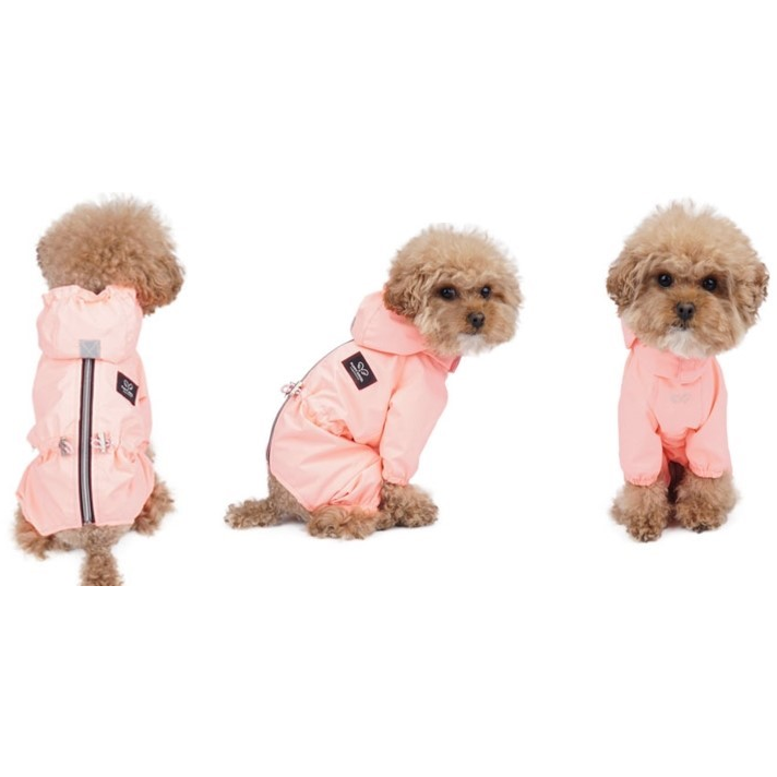 pink raincoat overalls - for girls only!