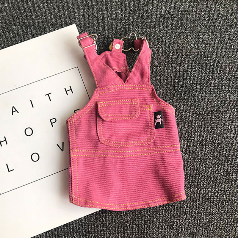retro overall dress - pink