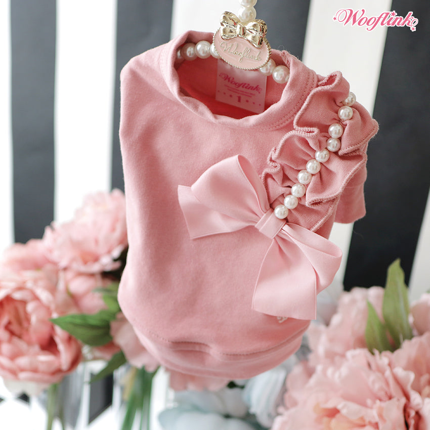 pearly girly top - pretty pink