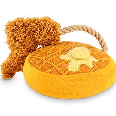 chicken n' wooffles rope toy