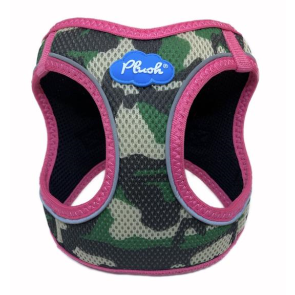 plush camo harness - pink or orange