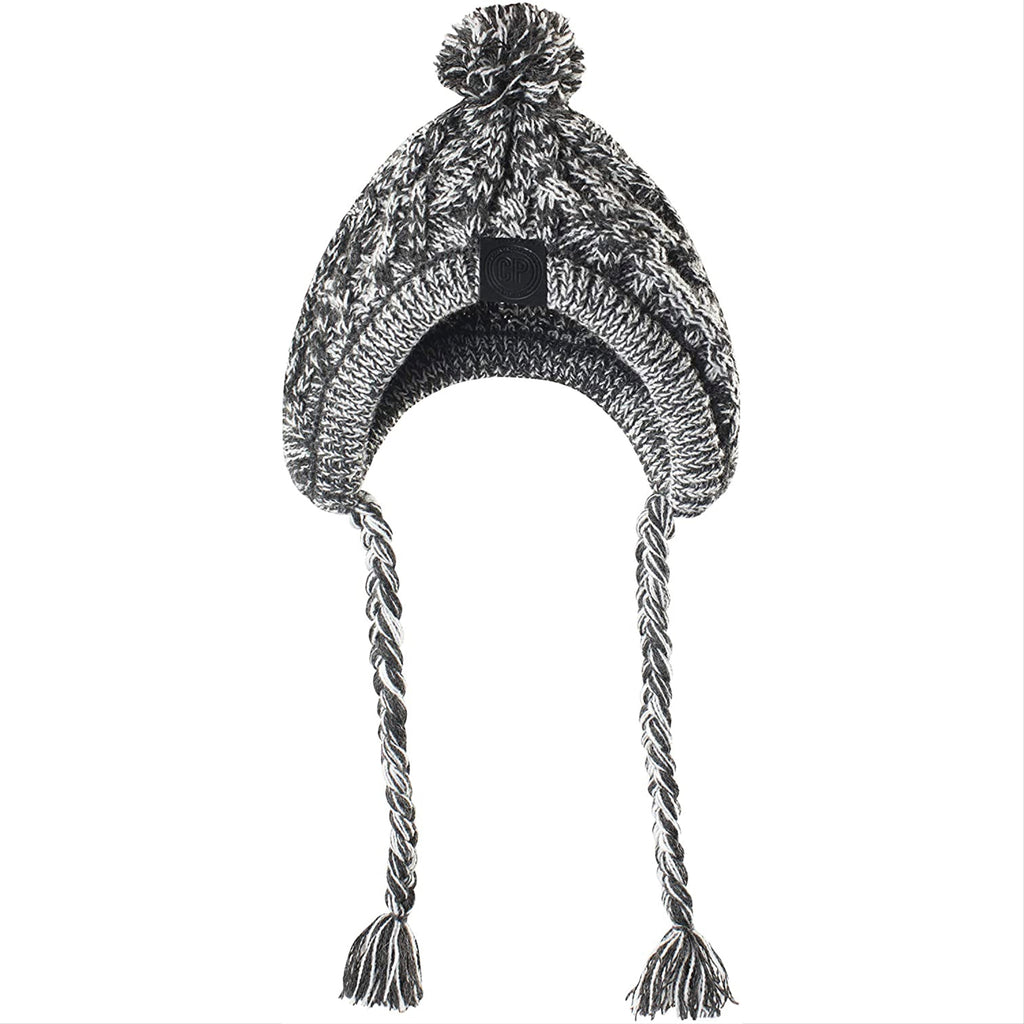 polar pom pom hat - charcoal