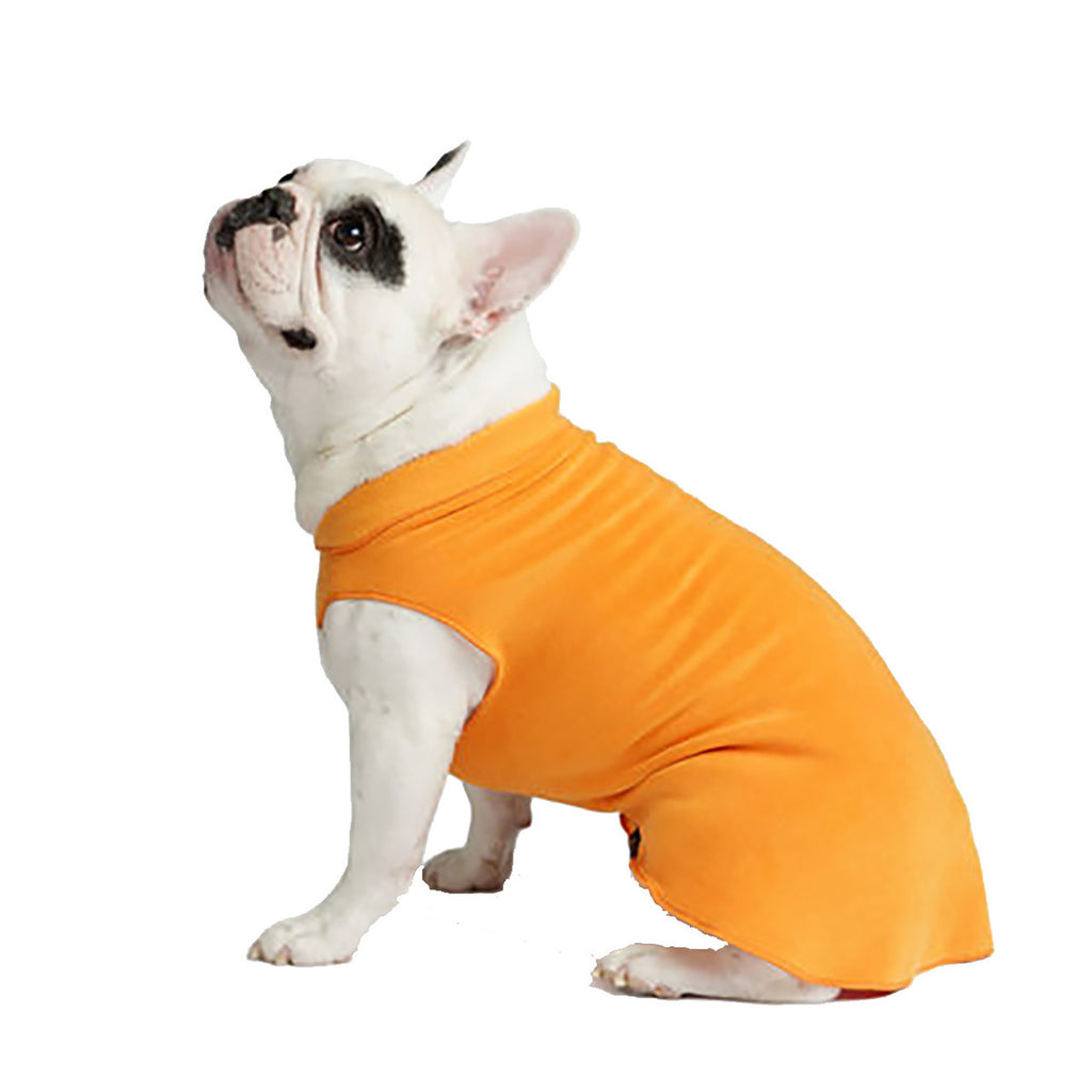 pumpkin orange stretch fleece